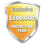 Exclusive $100000 Product Protection Plan!