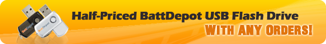Half Priced Battdepot USB Flash Drive