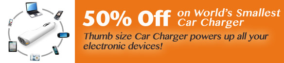 50% Off on World Smallest Car Charger