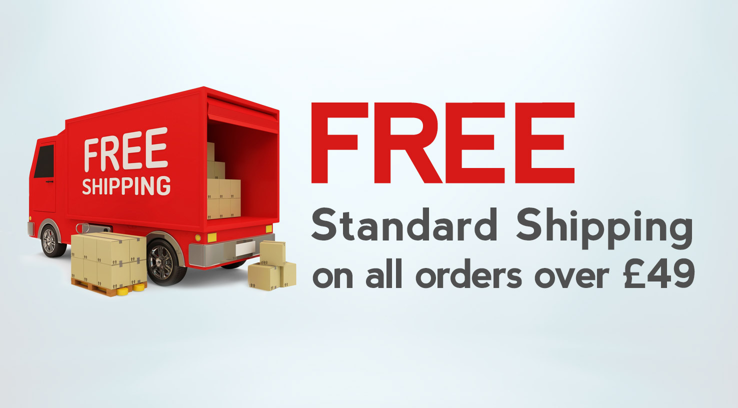FREE Ground Shipping on orders over £29
