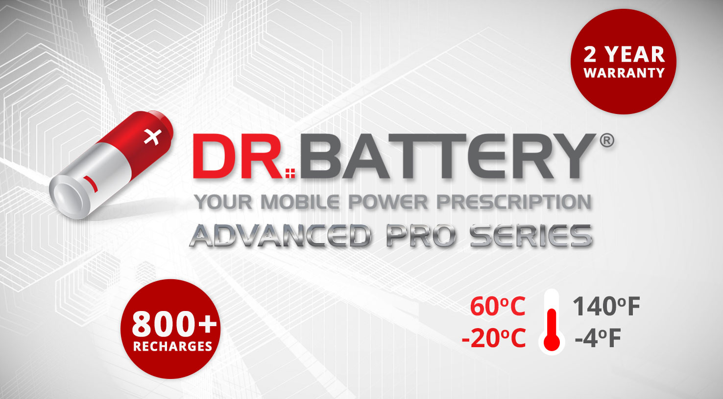 Dr. Battery Advanced Pro Series Battery